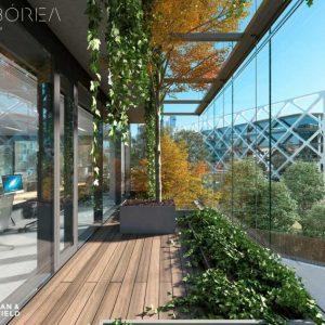 Arqborea-Cushman-Wakefield-edificio-oficinas-alquiler-madrid-fachada-biofilica