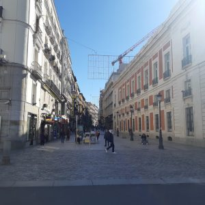 foto calle peatonal centrada