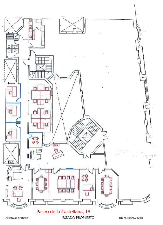 Alquiler de oficinas en Paseo de la Castellana 13