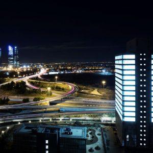 Oficinas-ubicacion noche-Dulce Chacon 55-cushman- Madrid